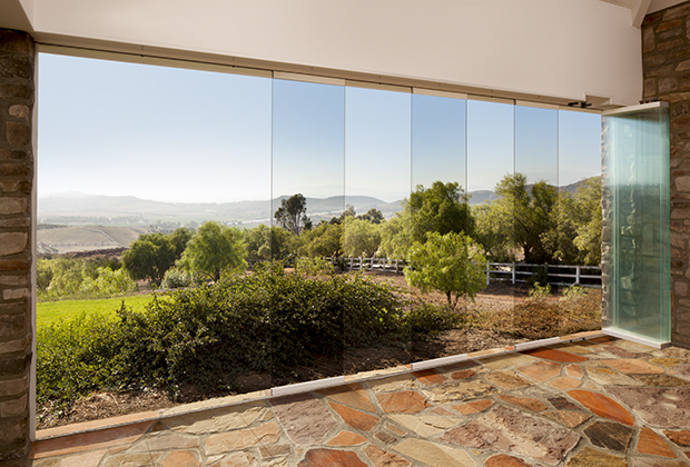 1600 Theising Drive. Glass walls by Nanawall Systems